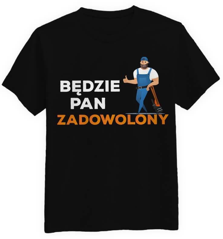 koszulka Będzie Pan Zadowolony czarna