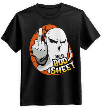 Boo-Sheet-czarna-koszulka