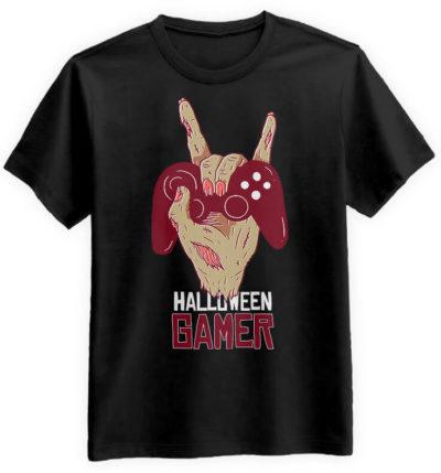 Halloween-Gamer-czarna-koszulka