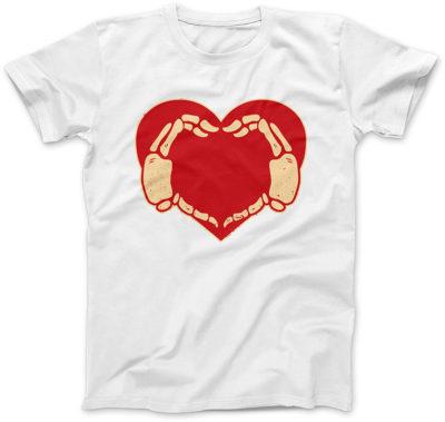Serce-Halloween-biala-koszulka