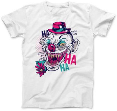 Straszny-Clown-biala-damska-koszulka