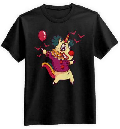 Unicorn-Clown-czarna-koszulka-meska