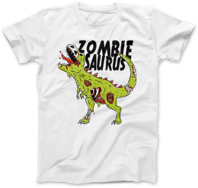 Zombiesaurus-damska-koszulka-biala