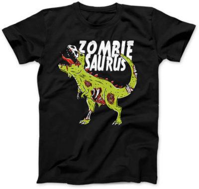 Zombiesaurus-damska-koszulka-czarna