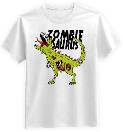 Zombiesaurus-meska-koszulka-biala