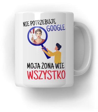 -Nie-potrzebuję-Google-Kubek-Prezent
