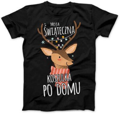 Świąteczna koszulka po domu
